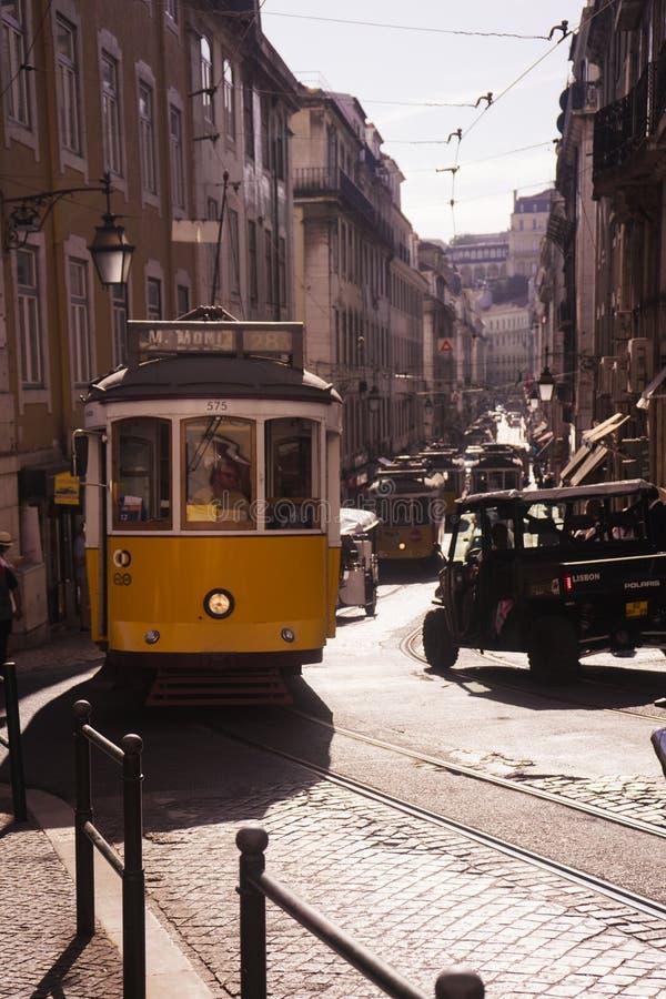 LISSABON PORTUGAL Gloria Funicular fotografering för bildbyråer