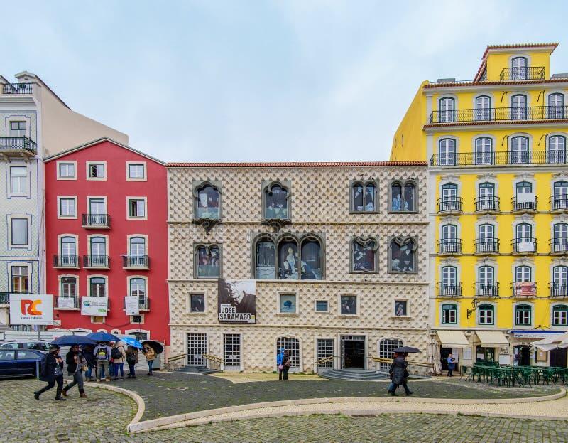 Lissabon, Portugal - Januari 7: Casados Bicos (Huis van Aren), stock fotografie