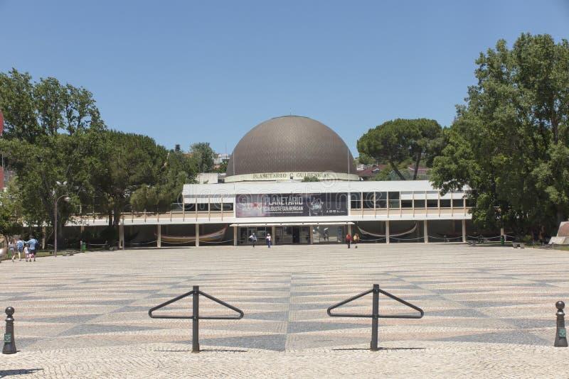 Lissabon Portugal, Juni 16, 2018: Planetarium av Calouste Gulbenkian på Belem i Lissabon, Portugal royaltyfria bilder