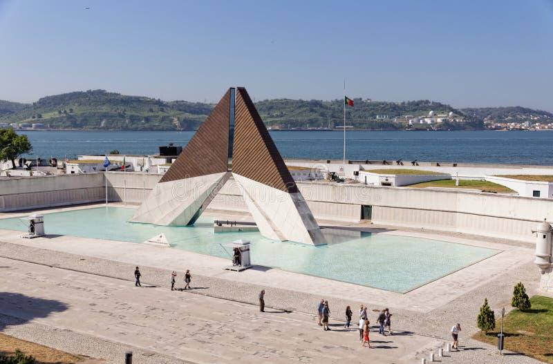 Lissabon, Portugal - Mei 15: Museu do Combatente in Lissabon op 15 Mei, 2014 Nationaal monument aan de Portugese militairen geval royalty-vrije stock foto's