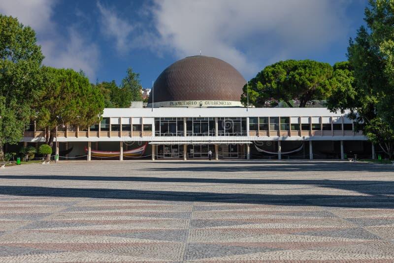 Lissabon, Portugal - 20 oktober 2019: Planetario de Lisboa Planetarium alias Calouste Gulbenkian Planetarium Astronomy science oc arkivfoton