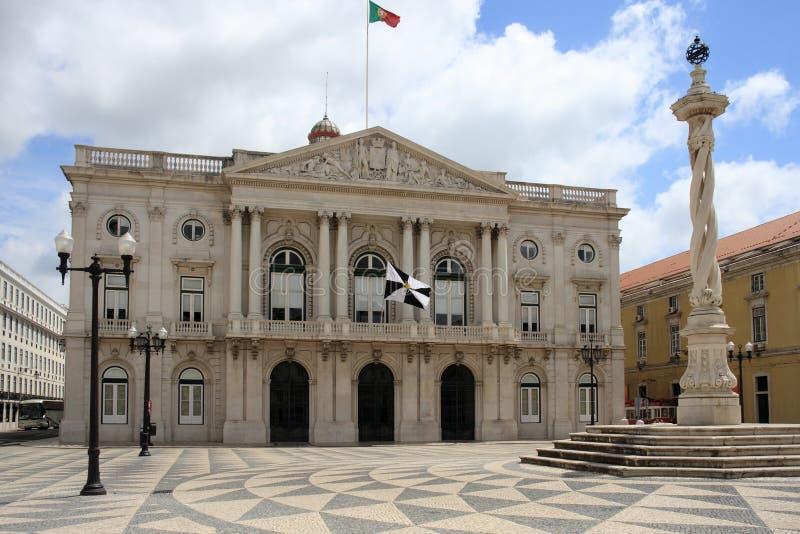 Lissabon rathaus stockbild bild von architektur stra e for Architektur lissabon