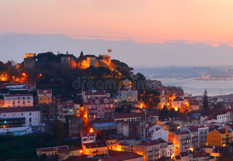Lissabon-Schloss, Portugal lizenzfreie stockbilder