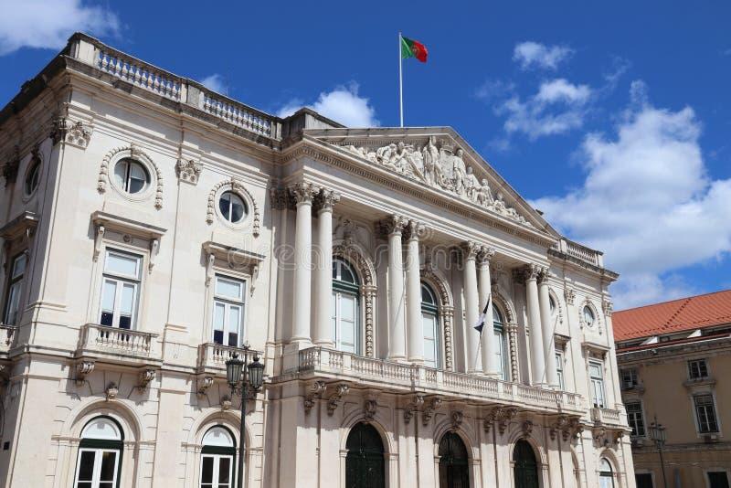 Lissabon stadshus arkivbild