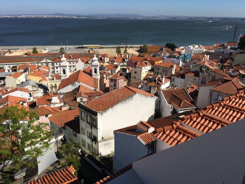 Lissabon stadssikt royaltyfri fotografi