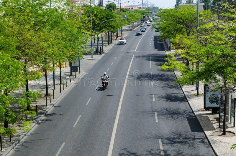 Lissabon-Straßenansicht lizenzfreies stockbild