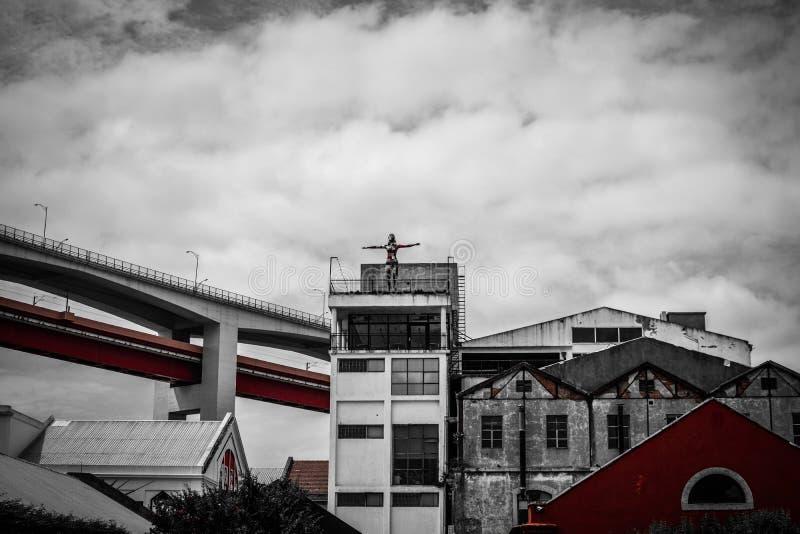 lissabon straten LxFactory stock fotografie