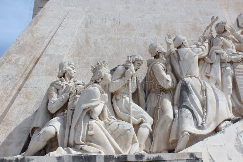 Lissabon upptäcktmonument Padrao DOS Descobrimentos arkivfoto