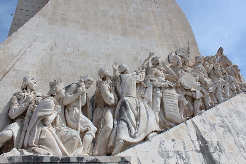 Lissabon upptäcktmonument Padrao DOS Descobrimentos royaltyfri fotografi