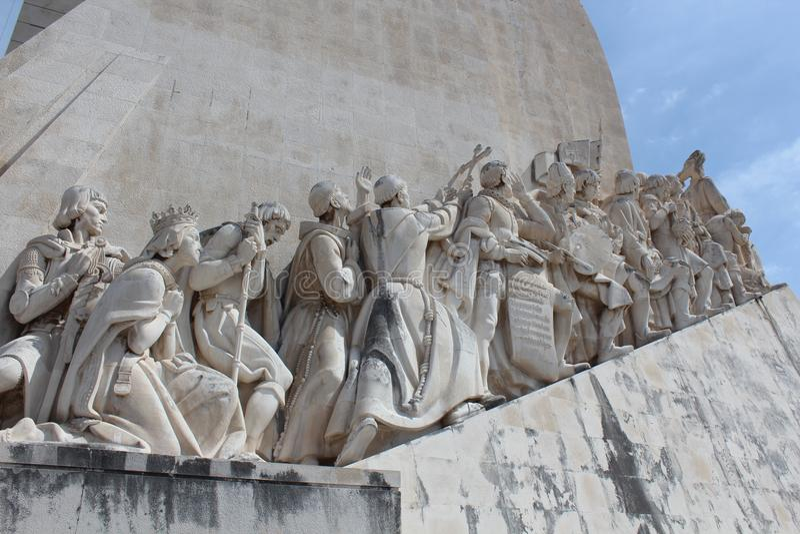 Lissabon upptäcktmonument Padrao DOS Descobrimentos royaltyfri foto