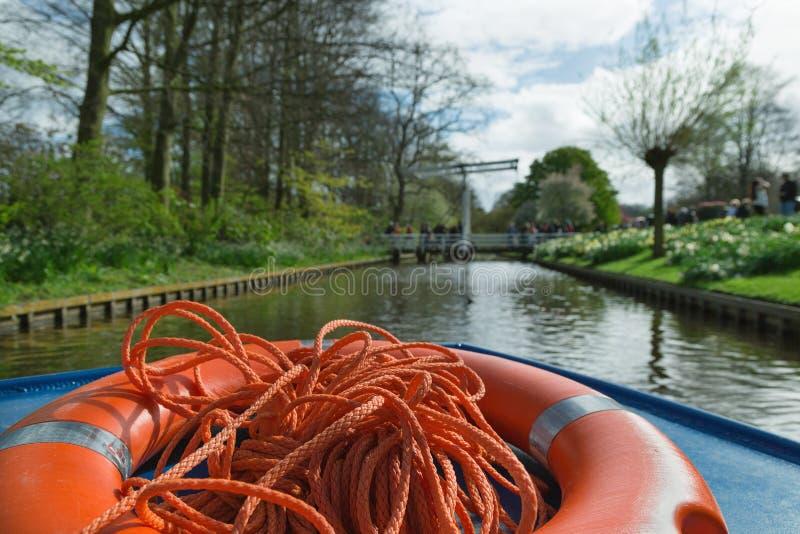 LISSE, NEDERLAND - April 22, 2017: Mening van de reizende boa royalty-vrije stock foto