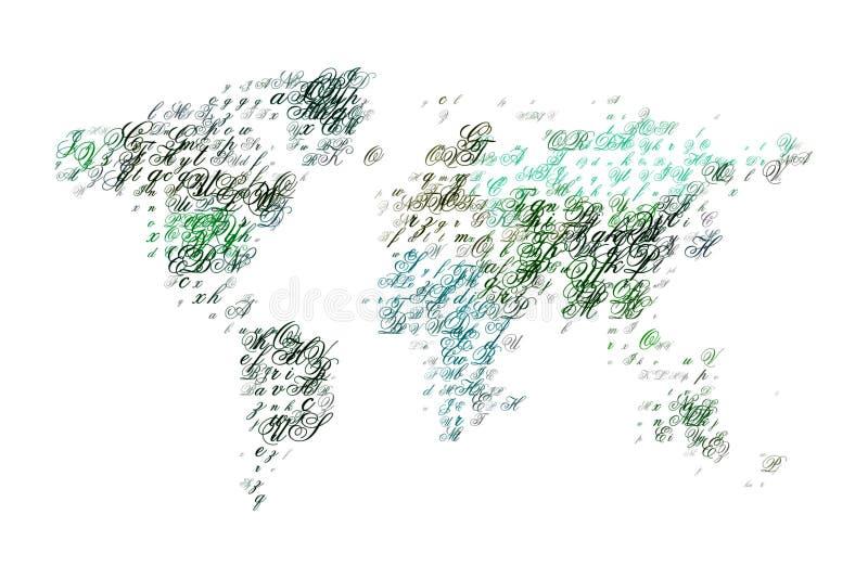 list świat royalty ilustracja