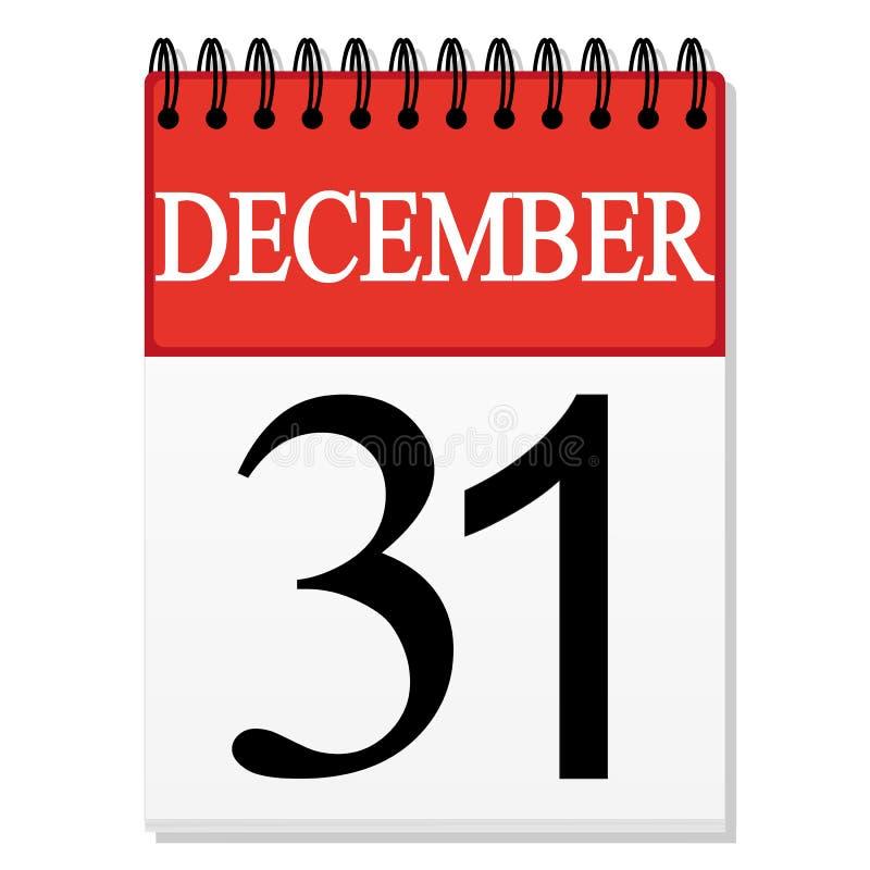Calendar Illustration List : List calendar december stock vector illustration of