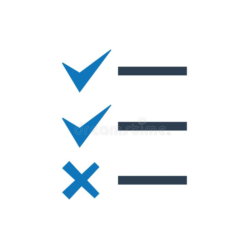 List checklist icon stock illustration