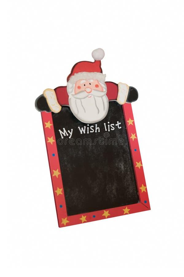 List d'envie de Noël photo libre de droits