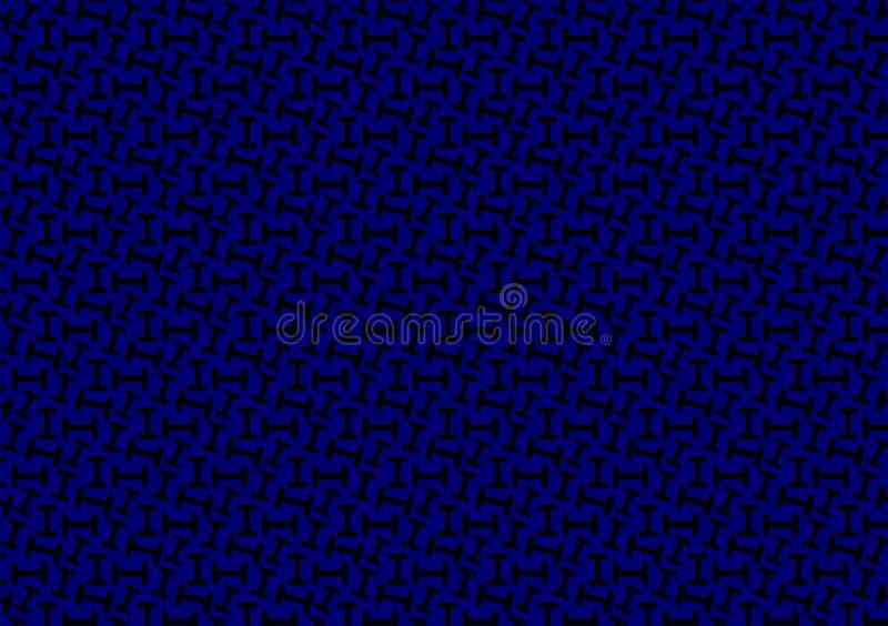 List deseniuję w różnych błękitnych barwionych cieniach dla tapety ilustracji