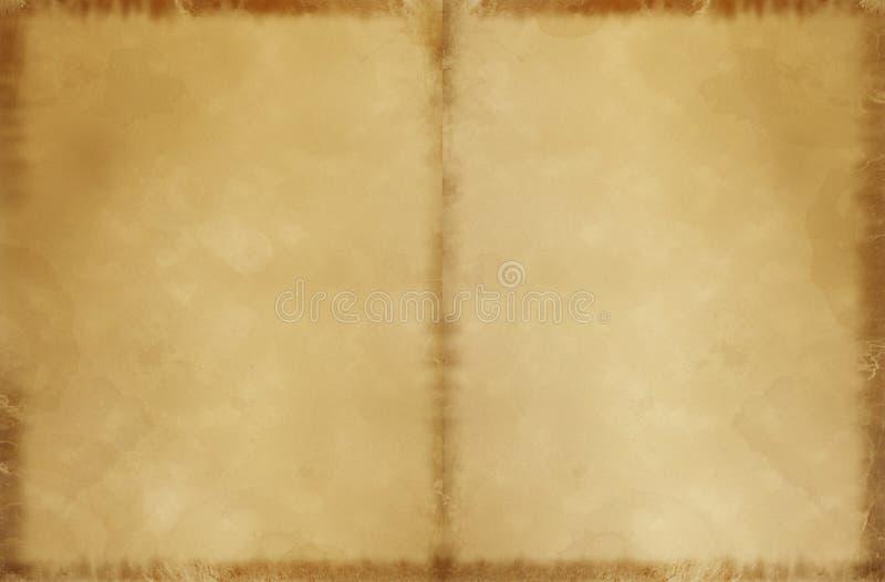 list dps pergamin, stary fotografia stock