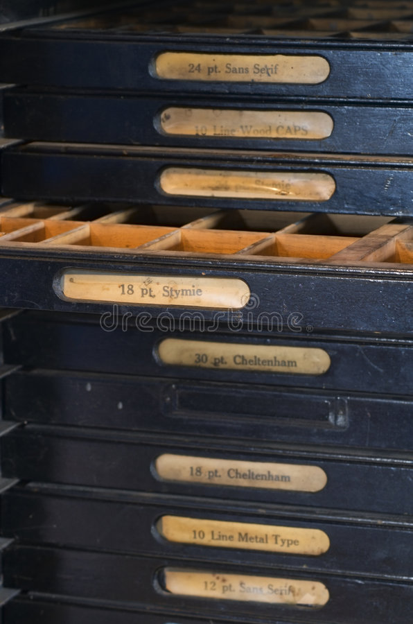 list fasonujący prasowy stań drukowania stary zdjęcia stock