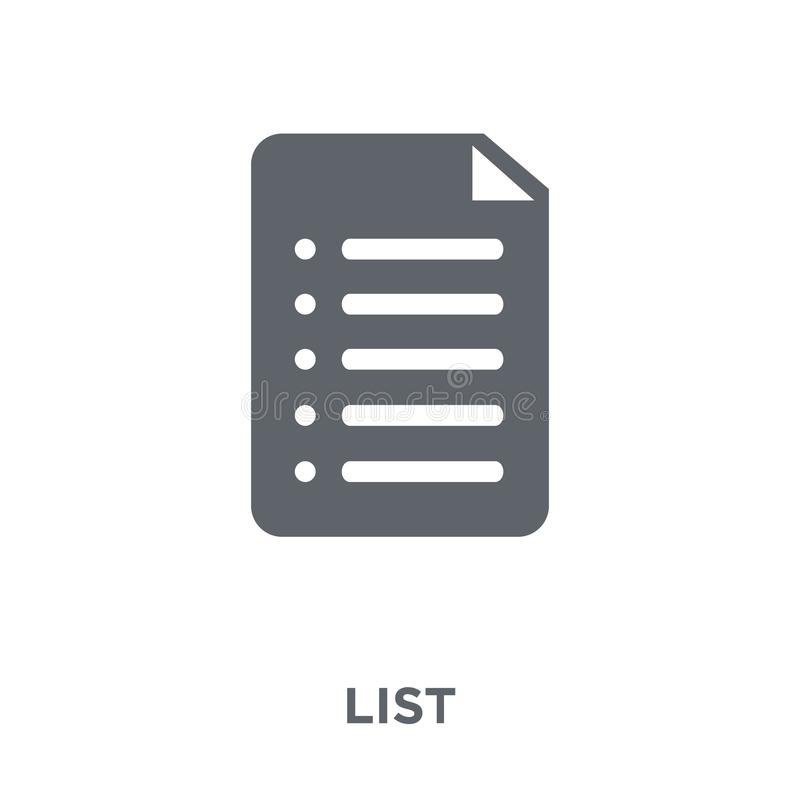 List icon from Time managemnet collection. List icon. List design concept from Time managemnet collection. Simple element vector illustration on white vector illustration