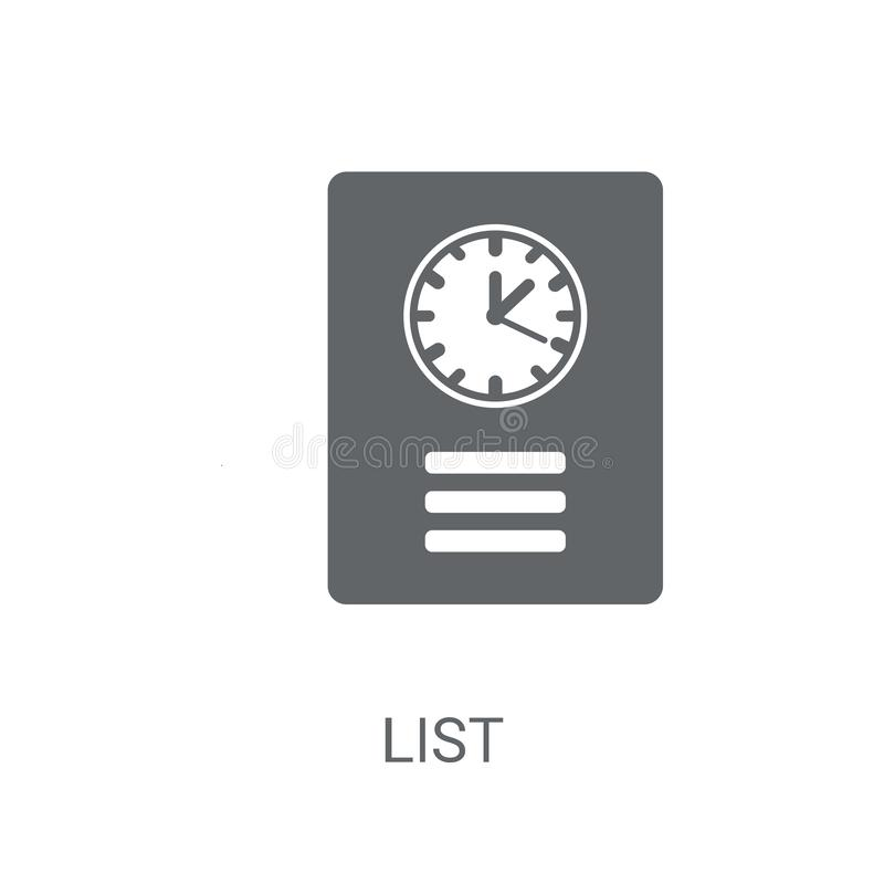 List icon. Trendy List logo concept on white background from Hum. An Resources collection vector illustration