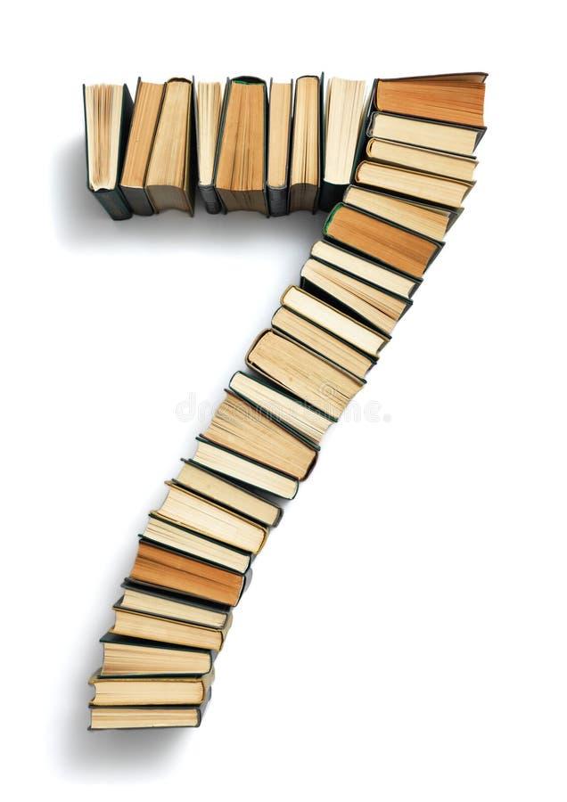 List 7 komponujący od książki zdjęcia royalty free