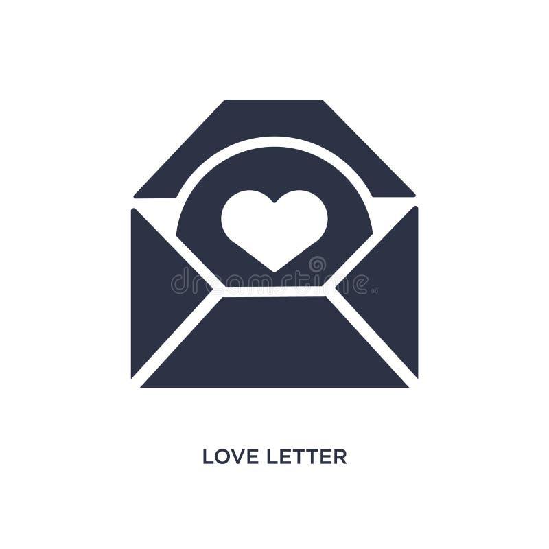 list miłosny ikona na białym tle Prosta element ilustracja od obsługi klientej pojęcia ilustracji