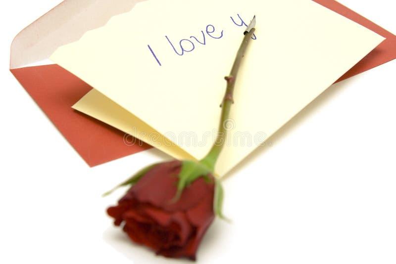 List miłosny zdjęcie stock
