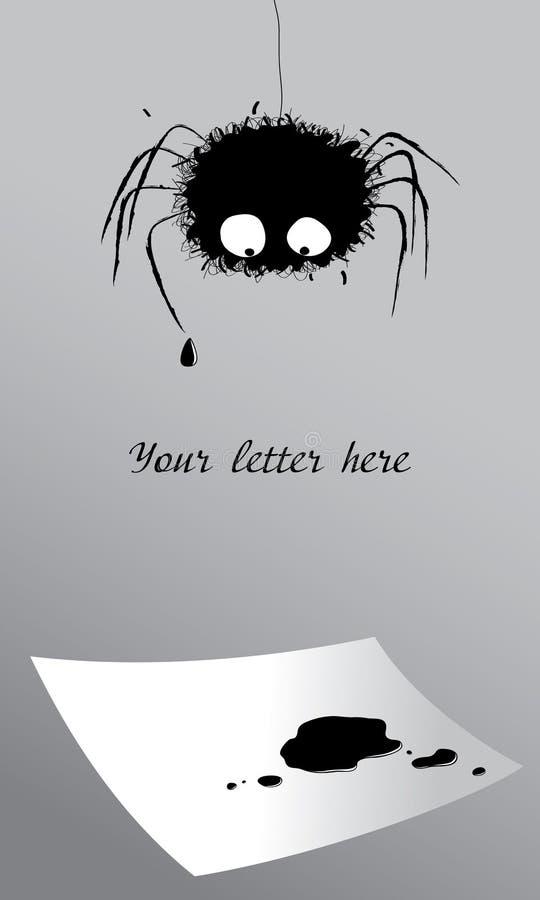 list na spider royalty ilustracja