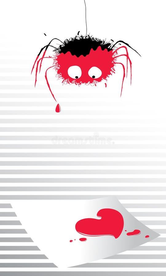 list na spider miłości. royalty ilustracja