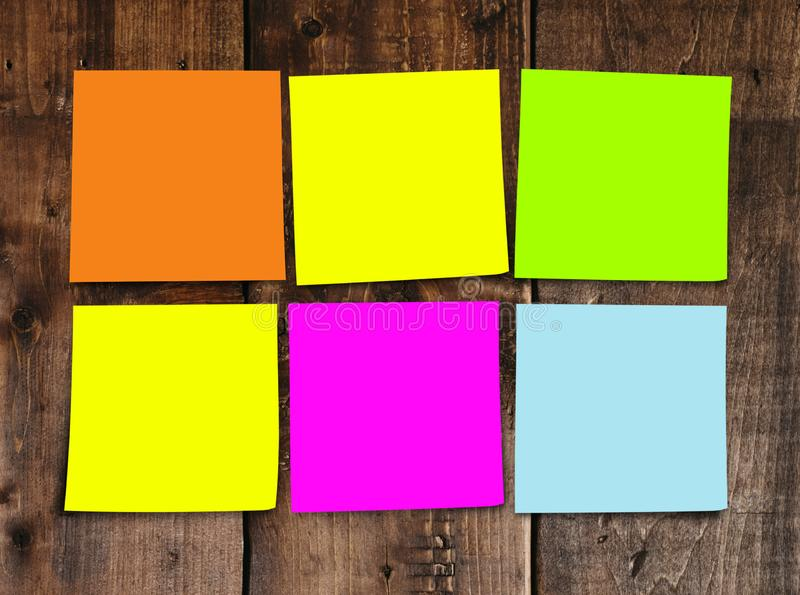 List of 2019 New Year resolution and goals sticky notes blank with copy space for adding text in commitment determination and stock image