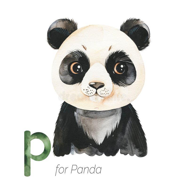 List od Cute Panda do P ilustracji