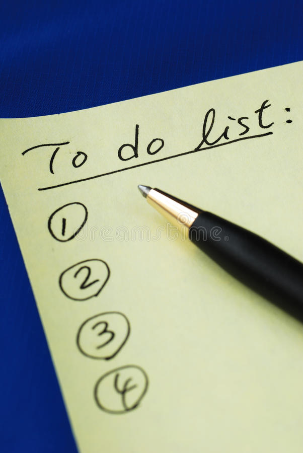 """Download List out the """"To Do List"""" stock photo. Image of office - 14189960"""