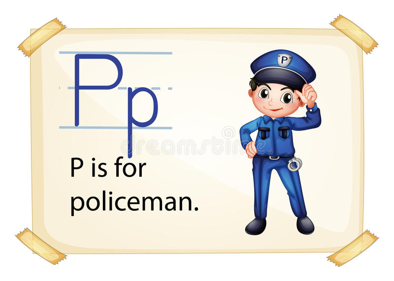 List P dla policjanta ilustracja wektor