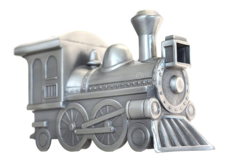 list pewter pociąg zabawki obrazy stock