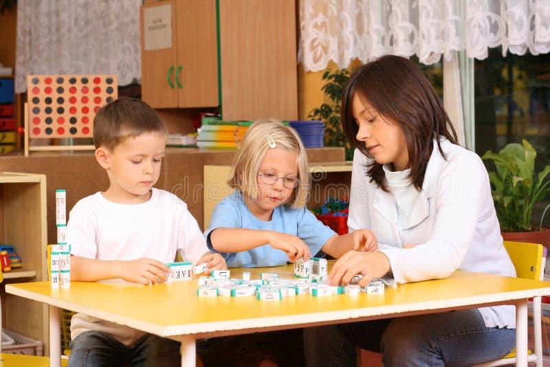 list preschoolers obraz royalty free