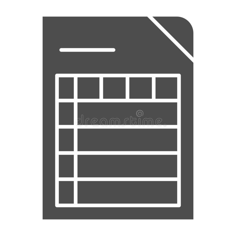 List solid icon. Document vector illustration isolated on white. Paper glyph style design, designed for web and app. Eps. 10 royalty free illustration