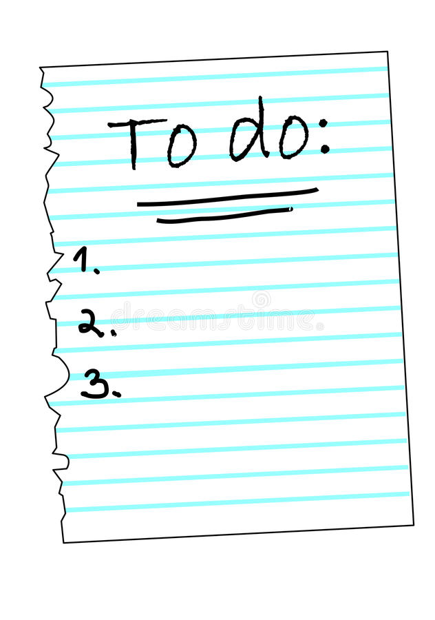 A list with tasks to do