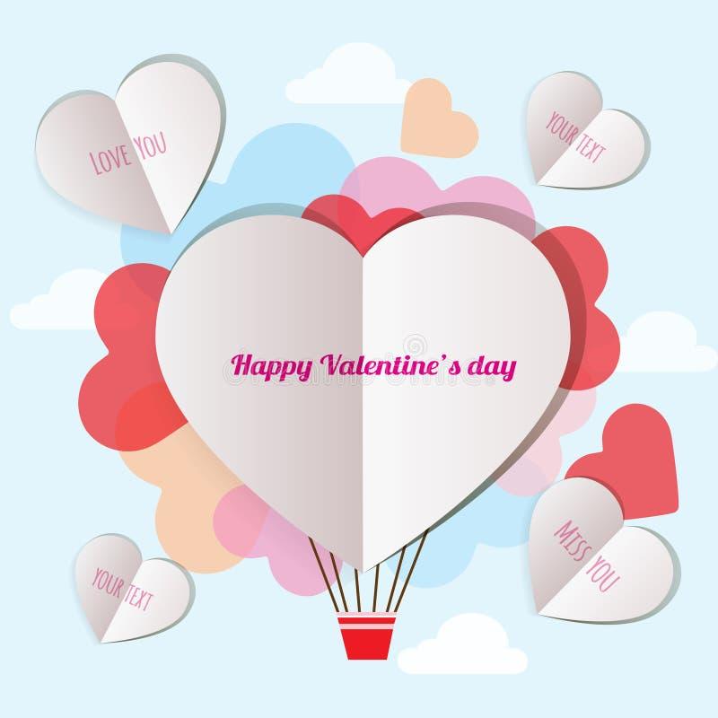 List wysyła kochanek na valentine dniu royalty ilustracja