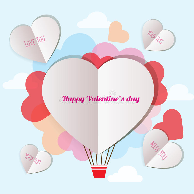List wysyła kochanek na valentine ` s dniu ilustracji