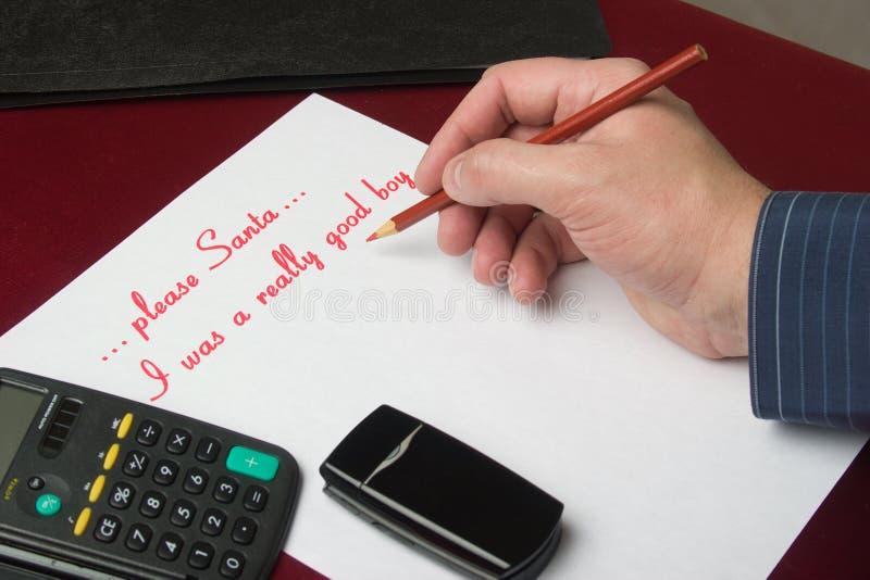 Lista życzeń zdjęcie stock