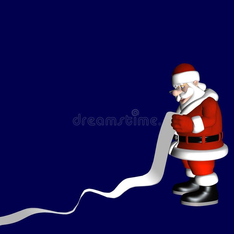 Lista 1 de Santa stock de ilustración