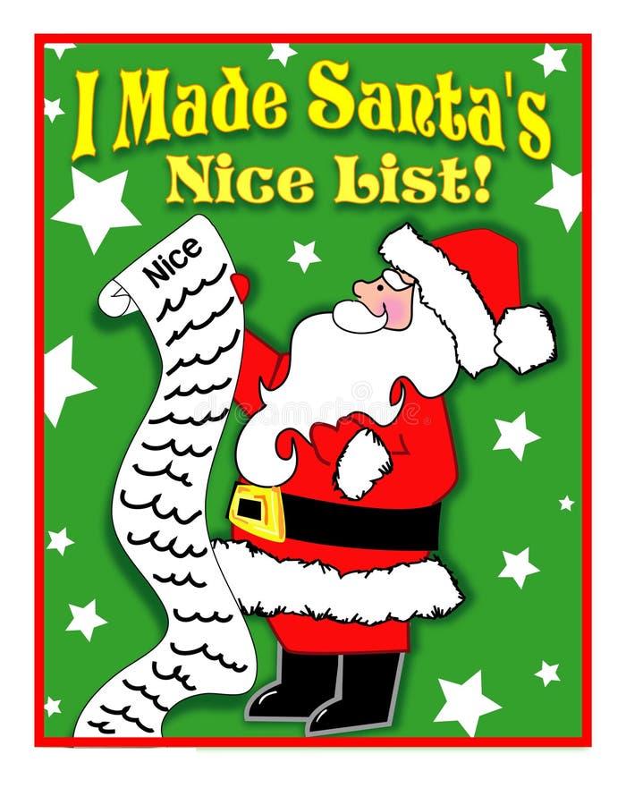 Lista agradável de Santa imagens de stock