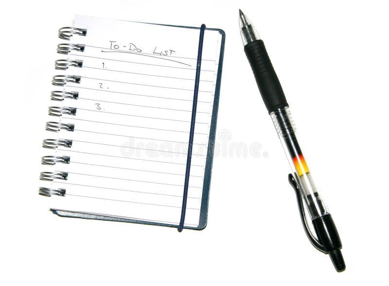 Download Lista & pena de Todo foto de stock. Imagem de notepad - 112284