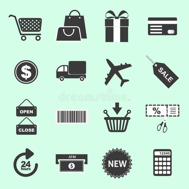 Lista de ícones relacionados de compra imagens de stock royalty free
