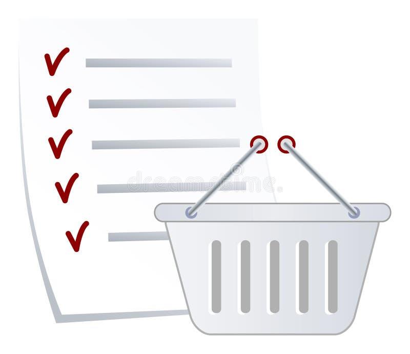 Lista de compra imagem de stock royalty free