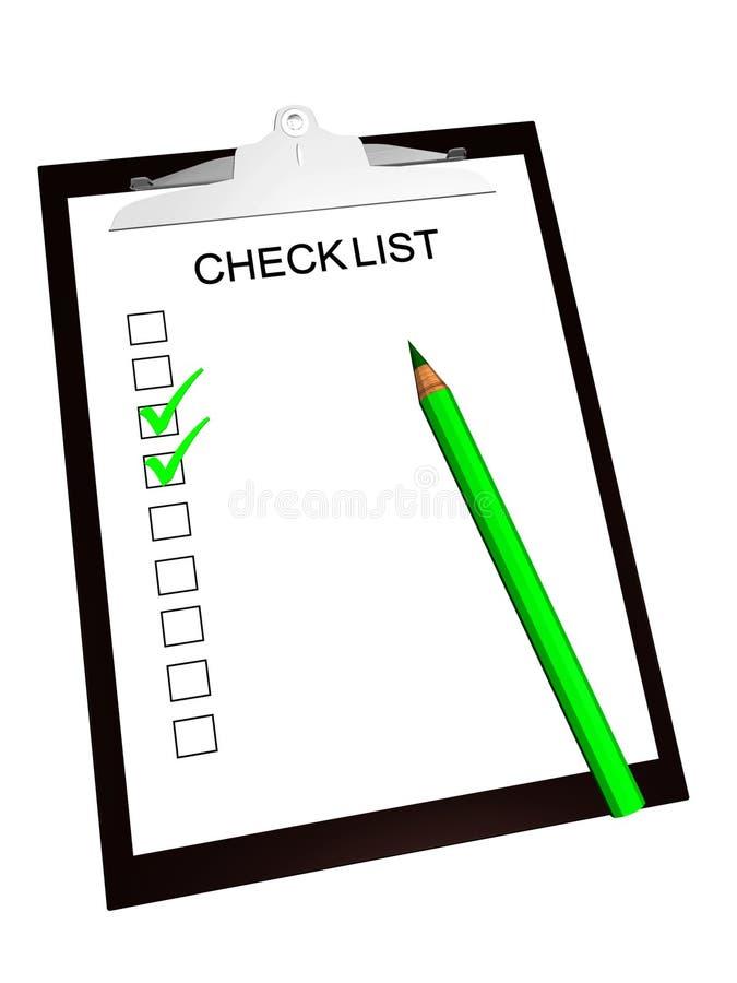 Lista de comprobación stock de ilustración