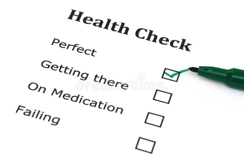 Lista de control de la salud foto de archivo