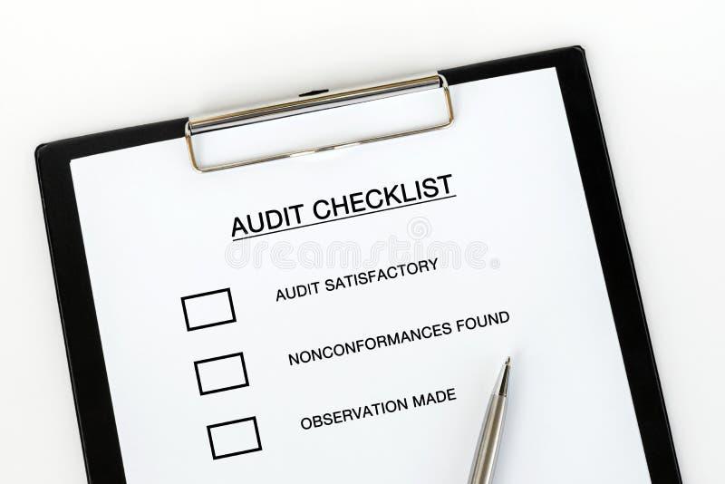 Lista de control de la auditor?a foto de archivo