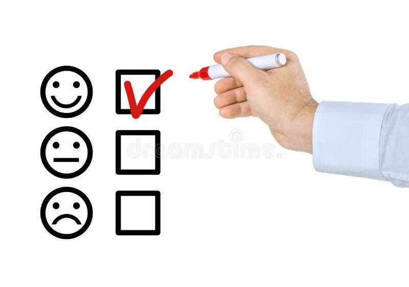 Lista de control - smiley ilustración del vector
