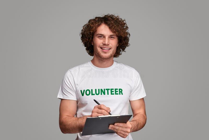 Lista de encuesta de relleno voluntaria imagenes de archivo